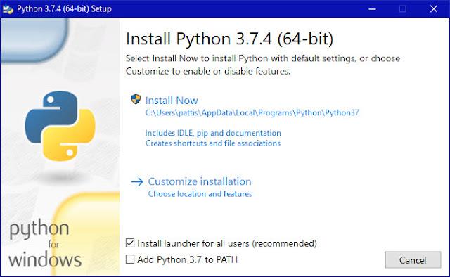Instalo python