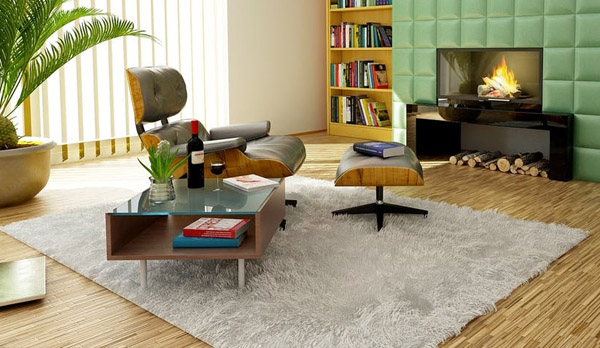 home improvement - family room - rug