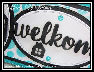 """Een close-up van """"welkom"""". A close-up of """"welcome""""."""