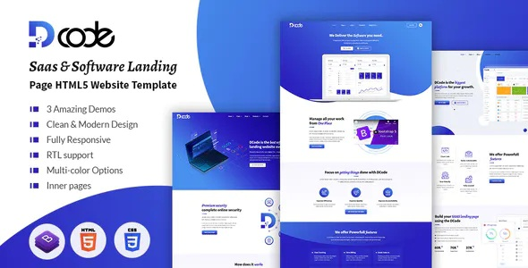 Best Saas & Software Responsive Landing Page Template