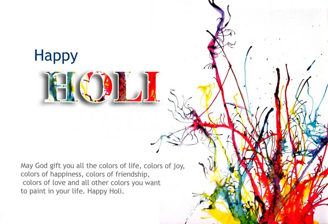 Simple Happy Holi HD Wallpapers
