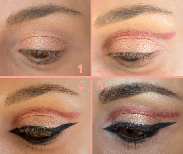 Monday Shadow Challenge : Cut crease & Rose Gold 💕