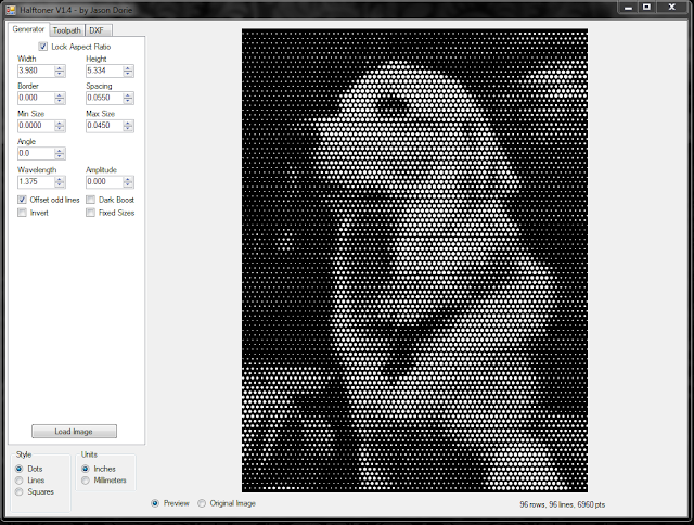 processed image in halftoner software