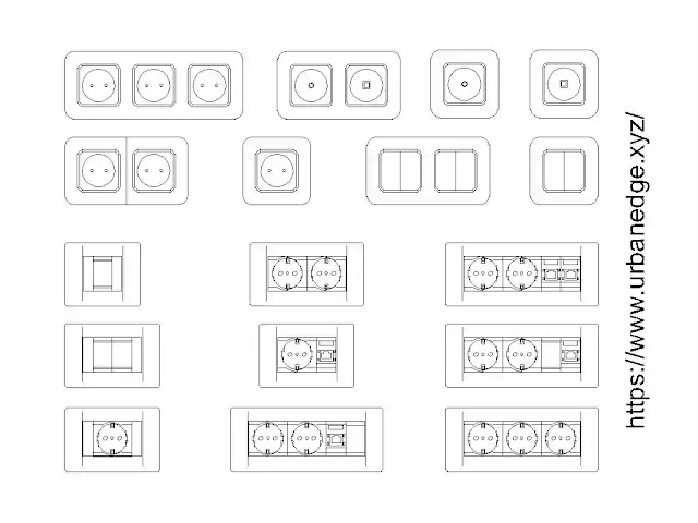 Sockets and switches cad blocks free download - 15+ CAD Blocks