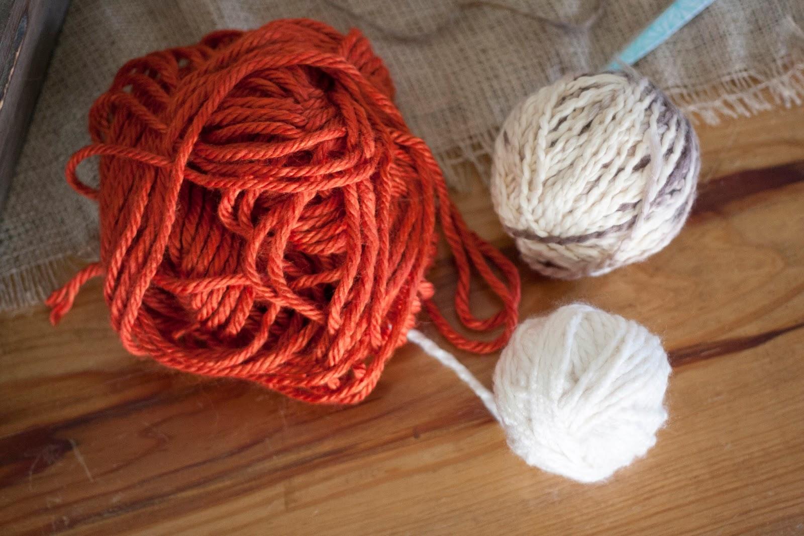 Yarn Pumpkin Garland Supplies
