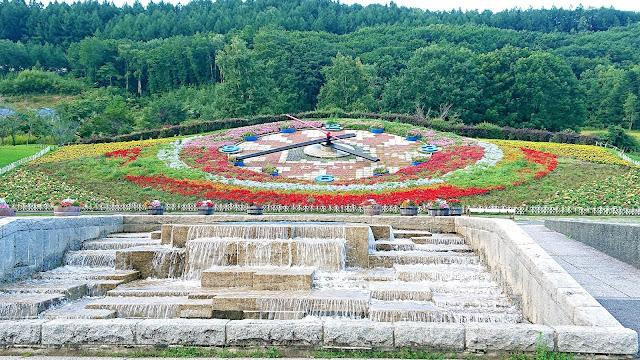北海道 十勝が丘公園 花時計 ハナック