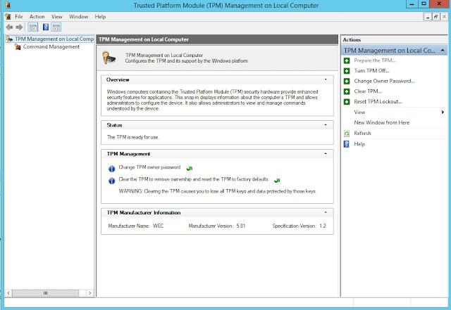 tpm 1.2 version on windows