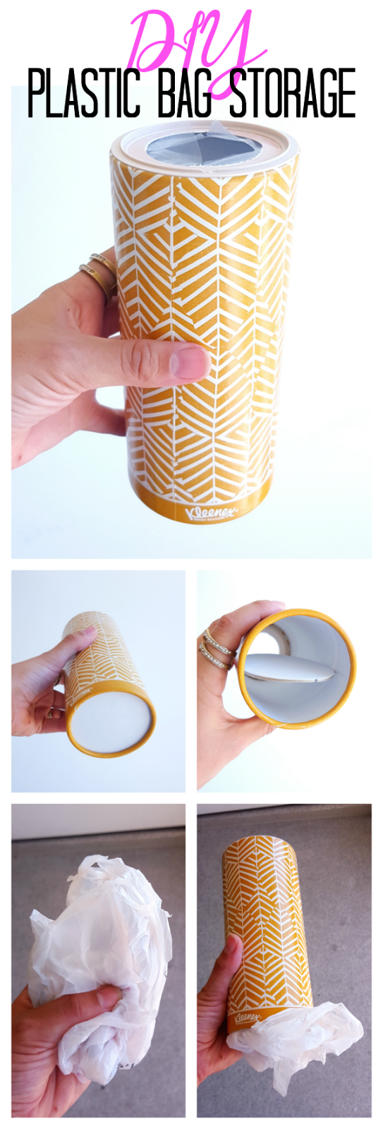 Reuse Kleenex Quick DIY Plastic Bag Holder