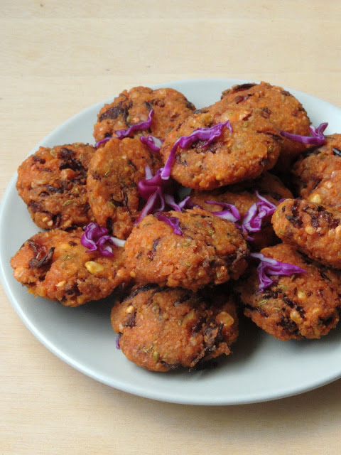 Purple cabbage Vadai, Cabbage Vadai