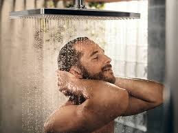 Man taking a shower