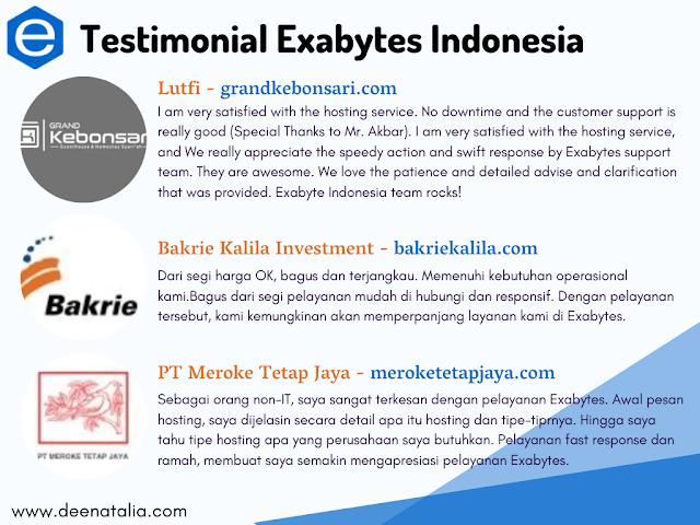 Testimonial pelanggan Exabytes Indonesia