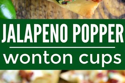 These Jalapeño Popper Wonton Cups