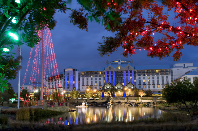 Experience the magic of Christmas in this winter wonderland of more than two million twinkling lights, a 50-foot rotating Christmas tree, train displays, live entertainment, stilt walkers, snow tubing, and more.