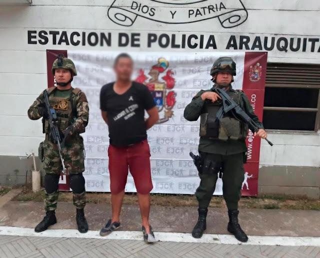 FRONTERA: En Arauquita-Colombia capturan a presunto extorsionista del Gao-R Estructura Décima de Farc.