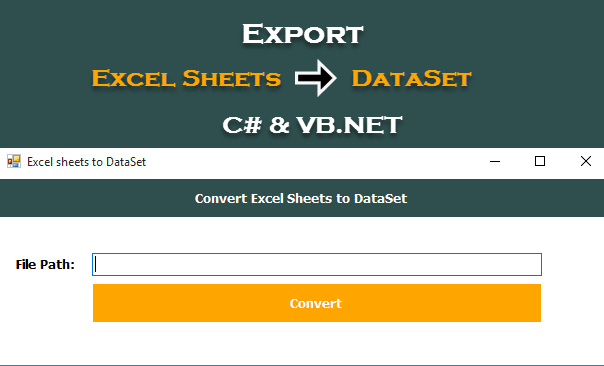 Export All The Excel Sheets to DataSet in C# and VB.NET