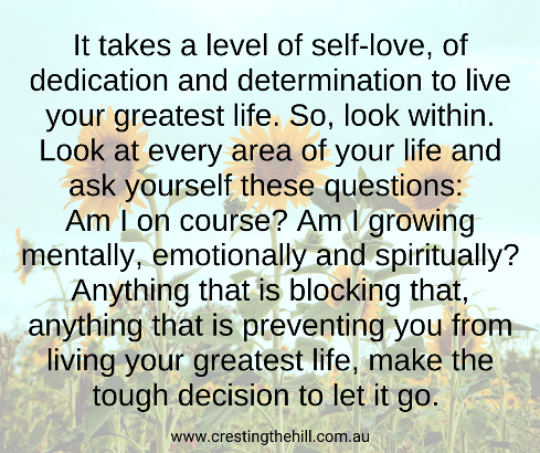 It takes a level of self-love, of dedication and determination to live your greatest life.  #lifequotes