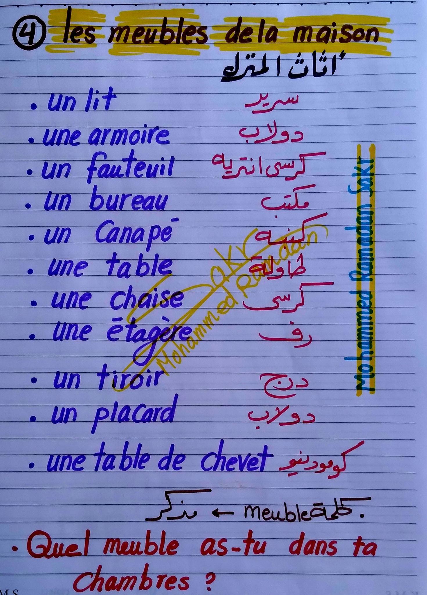 مراجعة لغة فرنسية للصف الثانى الثانوى ترم ثاني مسيو محمد رمضان 4
