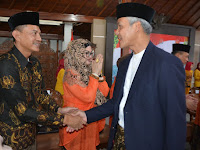 Danrem 071/Wijayakusuma Hadiri Open House Silaturahmi Idul Fitri 1440 H Bersama Gubernur Jawa Tengah dan Jajaran Pemkab Banyumas
