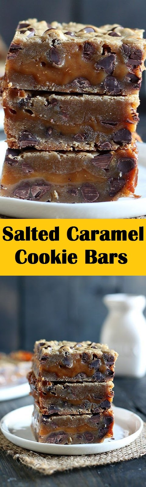 Salted Caramel Cookie Bars