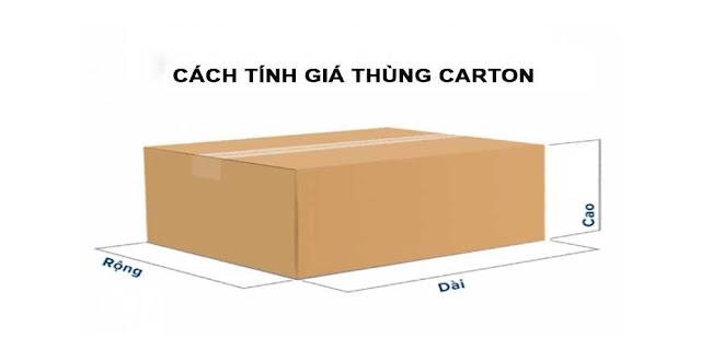 Hướng dẫn tính giá Thùng Carton