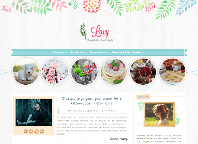 Lucy Beauty mobile friendly blogger template