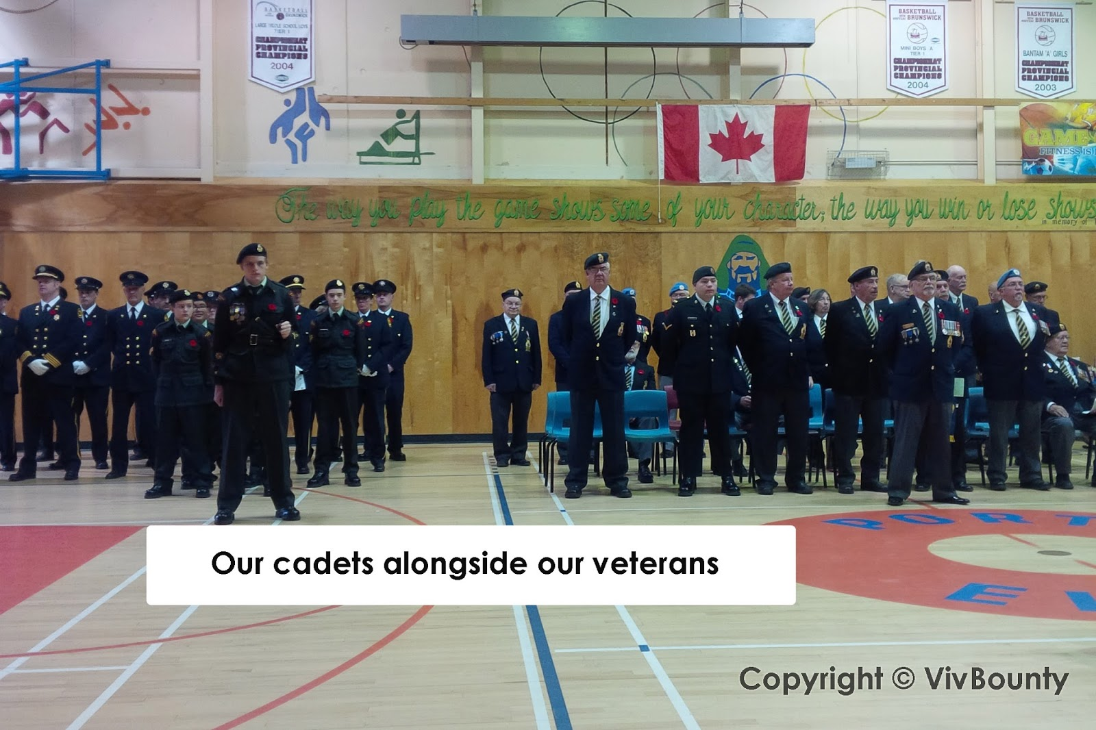 Cadets alongside our veterans, VivBounty