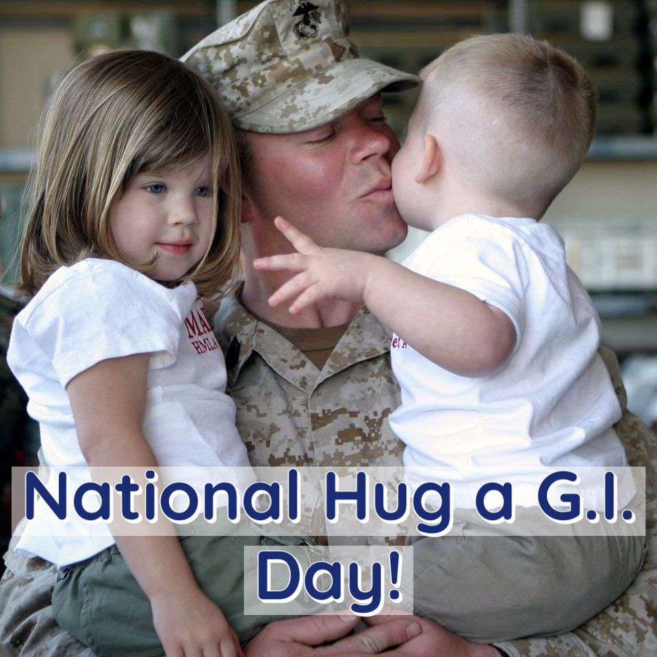 National Hug a G.I. Day Wishes Awesome Images, Pictures, Photos, Wallpapers