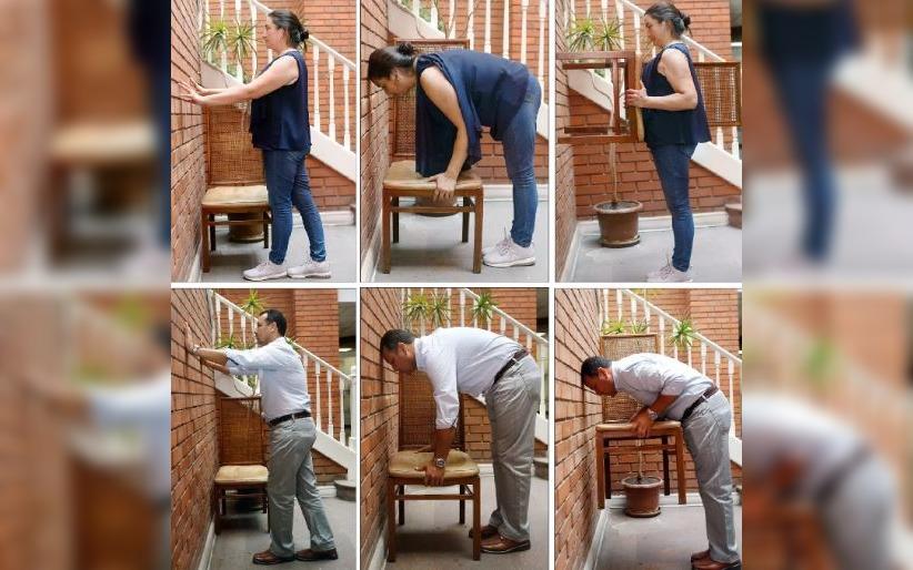 La razón anatómica de por qué sólo las mujeres pueden cumplir el reto de la silla