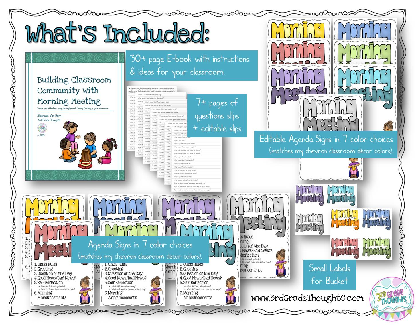 Morning Meeting Updated Packet 3rd Grade Thoughts