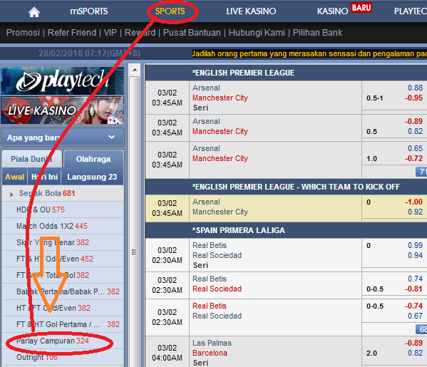 Tips malam nanti terpilih tiga pertandingan yang akan membawa saldo para bettor ke arah po MENANG PARLAY CAMPURAN BLOG