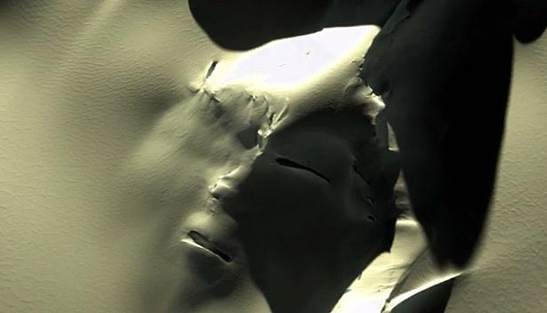 Hy hữu: Nam cực xuất hiện khuôn mặt người ngoài hành tinh khổng lồ