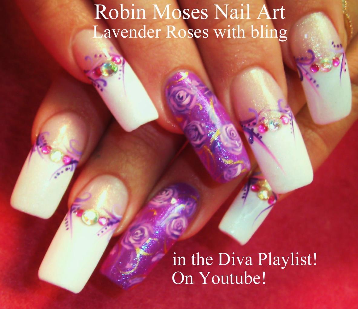 Robin Moses Nail Art: Rosegold Nails. How To Paint Roses