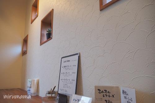 コットンカフェのカウンター