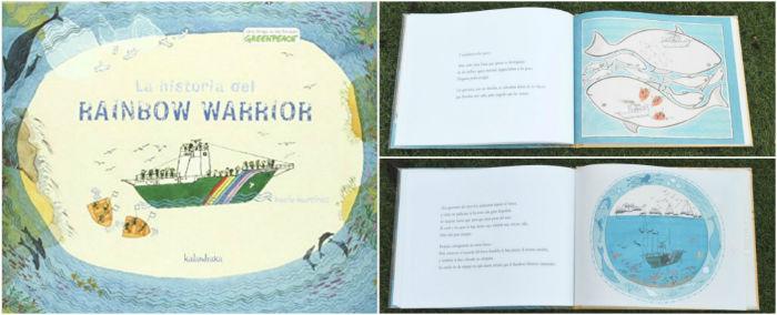 cuentos libro infantiles respetar cuidar medio ambiente  historia rainbow warrior