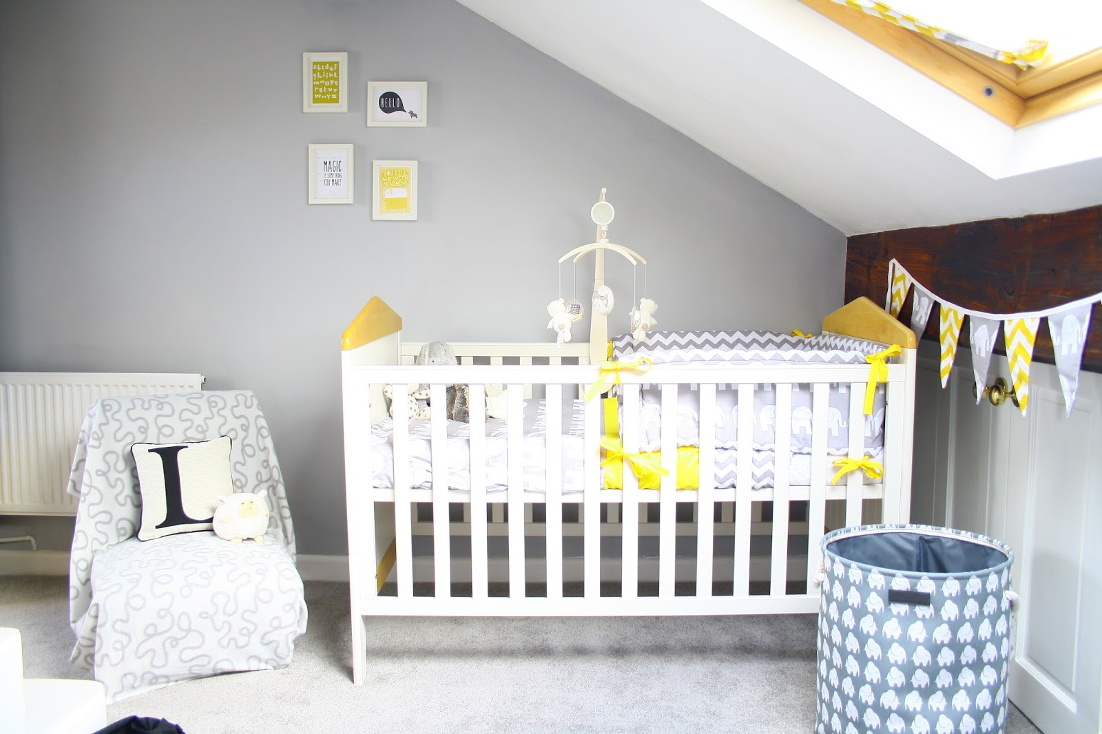 A Grey And Yellow Baby Nursery Room Tour | Oh Little One Sweet