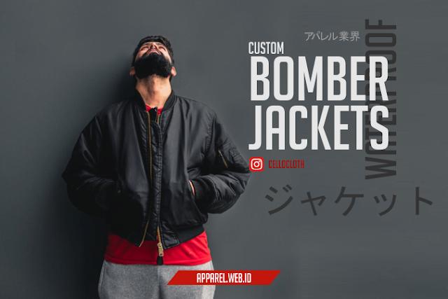 Bomber Jaket Custom Konveksi Jacket Bahan Waterproof Tahan Air
