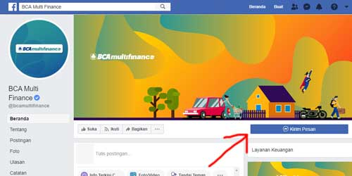 halaman facebook resmi bca multifinance