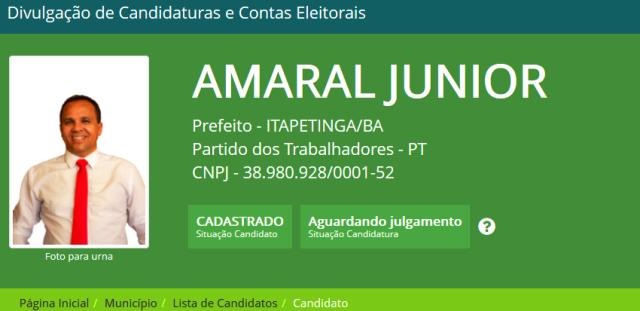 Candidato PT, Amaral Junior