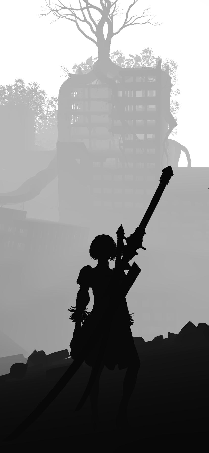 NieR: Automata game mobile wallpaper