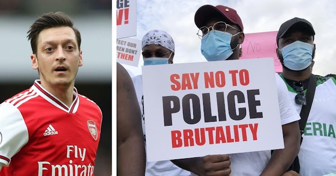 Arsenal midfielder Ozil finally react and lends his voice to #EndSARS protests in Nigeria