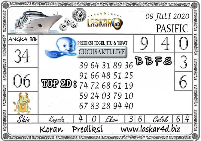 Prediksi Togel PASIFIC LASKAR4D 09 JULI 2020