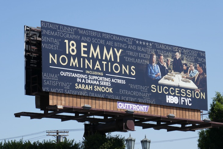 Succession 2020 Emmy nominee billboard