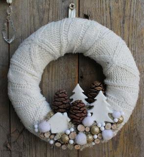 ghirlanda natalizia fai da te riciclando maglione