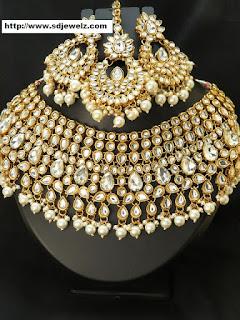 Kundan Set Cheap Indian Traditional Jewelry