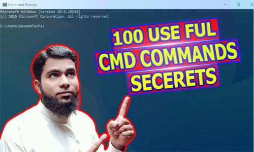 100 Useful CMD Commands Secrets Hindi/Urdu