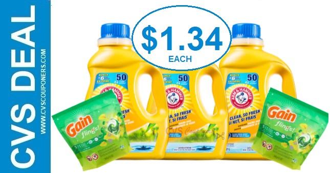 Arm & Hammer Detergent CVS Deal 7/12-7/18