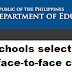 120 schools selected to pilot face-to-face classes