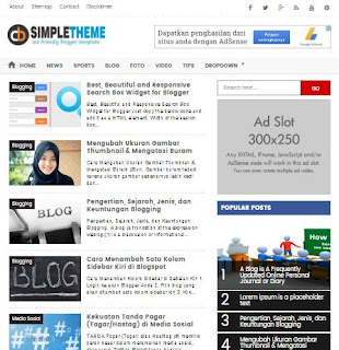 CB Simple Theme - Template SEO Friendly Terbaru 2017
