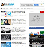 Simple SEO & Responsive Blogger Template