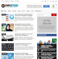 Simple SEO & Responsive Blogger Template